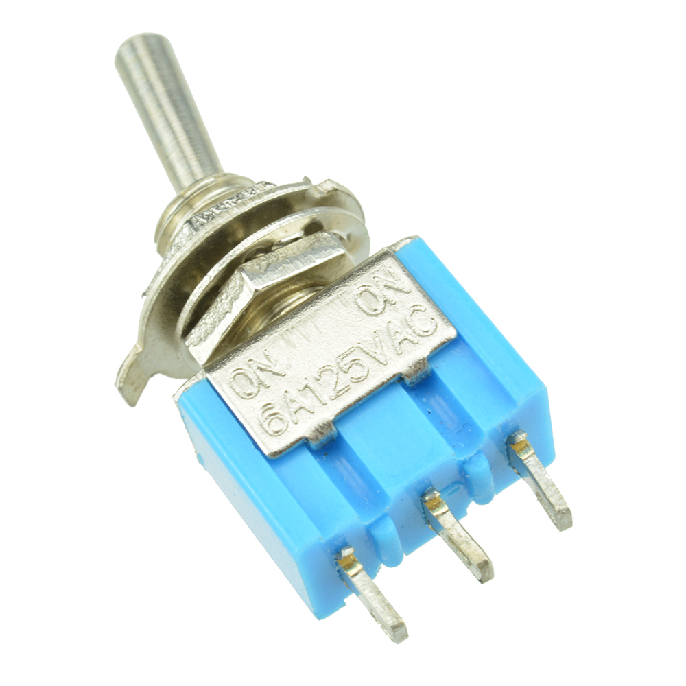 Mini 2 Position SPDT ON//ON  MTS-102 Blue 3-PIN AC 125V 6A Toggle Switch