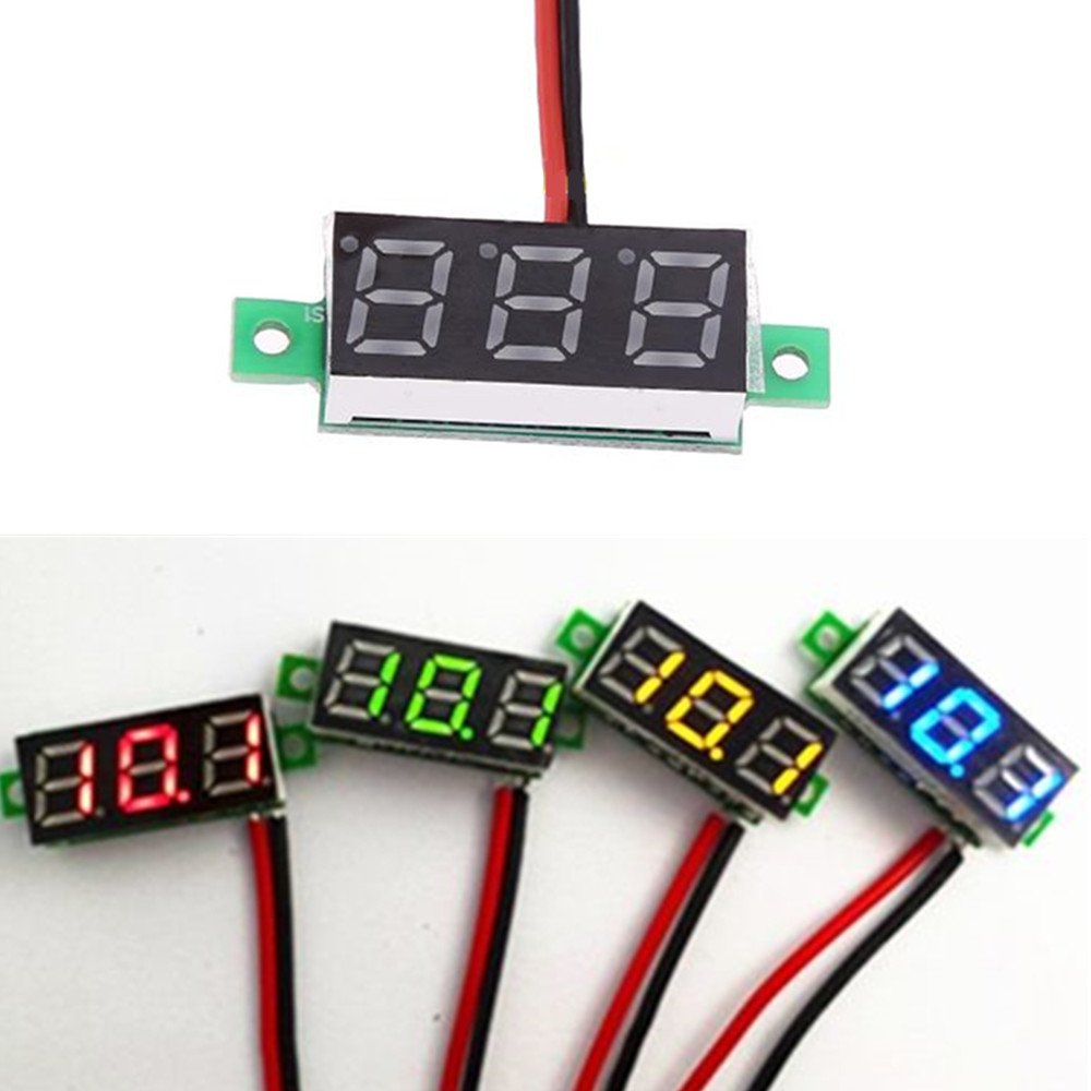 High Voltage Detector With Display : Quot wire led display digital voltmeter gauge voltage