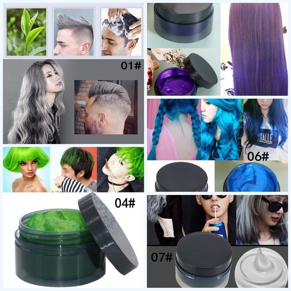 Unisex Diy Hair Color Wax Mud Party Dye Cream Temporary Modeling