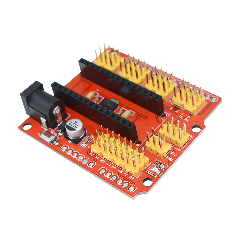 Expansion Prototype Shield I O Extension Board Module For Arduino Circuit Diy Breadboard 830 Point 65pcs Jumper Wire Kit Set Yc Nano V30 New