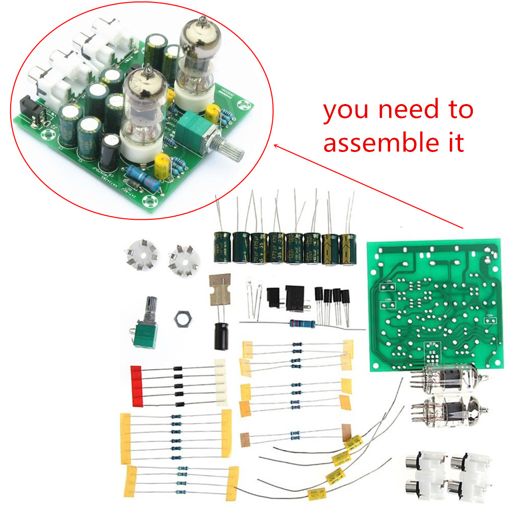 6j1 Valve Pre Amp Tube Board Headphone Amplifier Acrylic Case Diy Kits 2 Channel Subwoofer Audio Circuit For Amplifierdiy Type 20 Stereo Power Input Ac12v 1a 5521 Plug Knob Functions Switch Volume Control