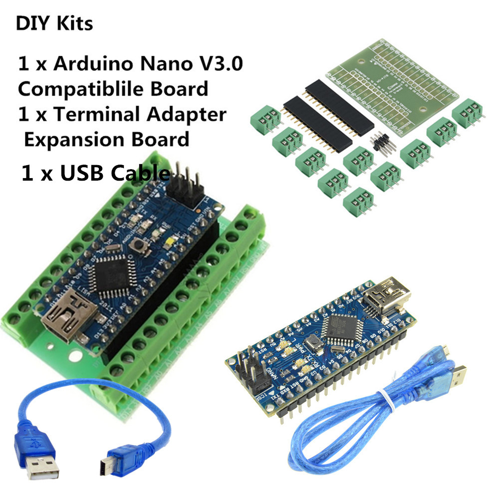 Ch340g Nano V30 Atmega328 5v 16mhz Terminal Adapter Controller Soldering On From Arduino For Dummies 1pcarduino Compatible Support Isp Cable Not Require Expansion Board Kit