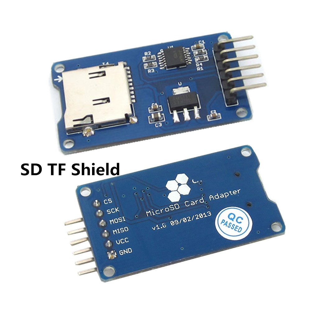 V spi mciro sd tf card memory shield module