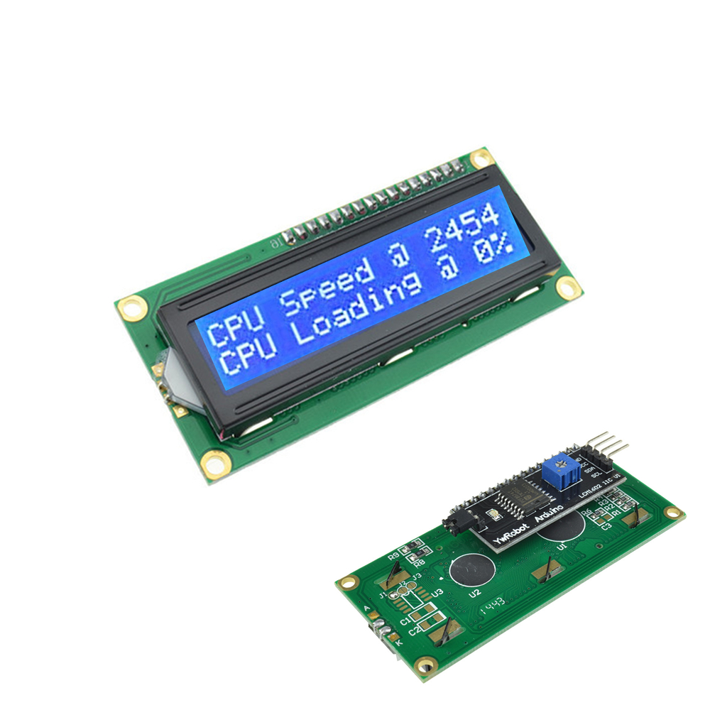 Details about 5PCS IIC/I2C/TWI/SP I Serial Interface Blue 1602 16X2 LCD  Module Display