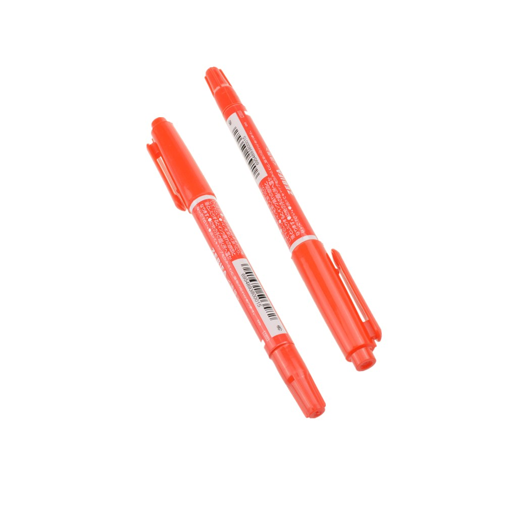 2pcs Red Ccl Anti Etching Pcb Circuit Board Ink Marker Double Pen Diy Sided For