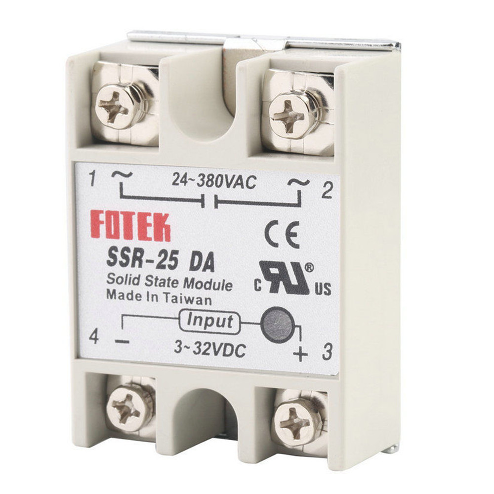 Solid State Relay Module Ssr 25da 25a 250v 3 32v Dc Input 24 380vac Current This Is 32vdc Voltage Output Working