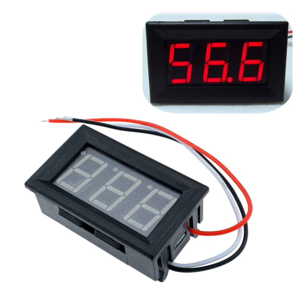 Digital Panel Meter 9v 3 5 : Pcs red led panel meter mini digital voltmeter dc v to
