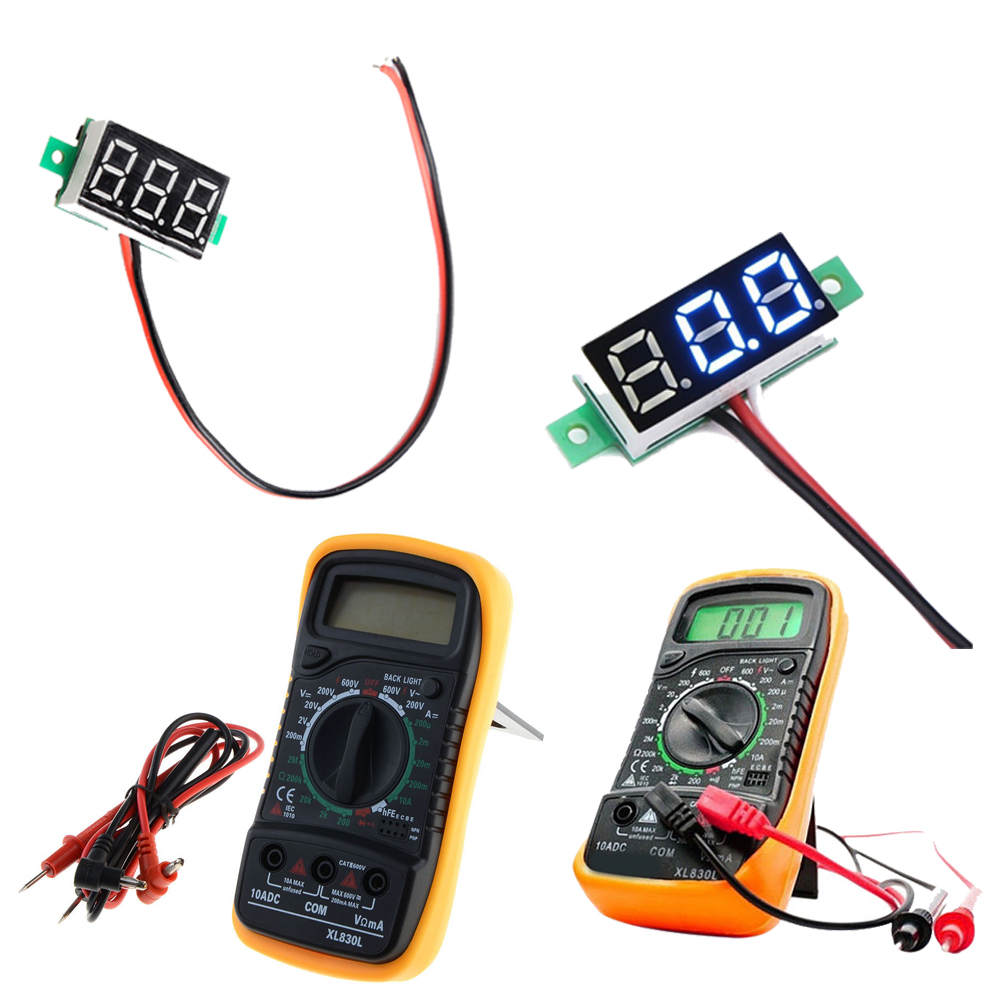 Xl830l Digital Lcd Multimeter Voltmeter Ammeter Ohm Ac Dc Volt Circuit Checker Tester Sc