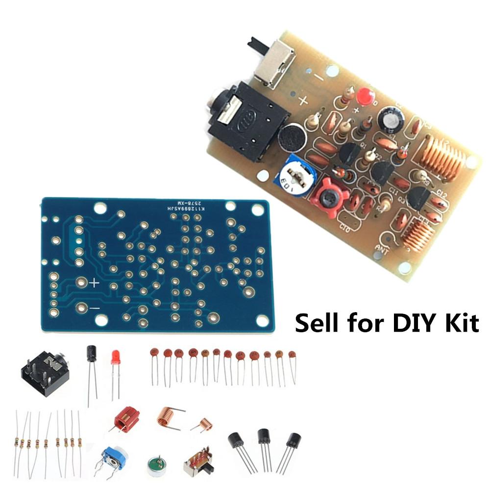 15v 9v Wireless Microphone Suite Fm88 108mhz Radio Transmitter Diy Two Transistors Fm Circuit Kit Module