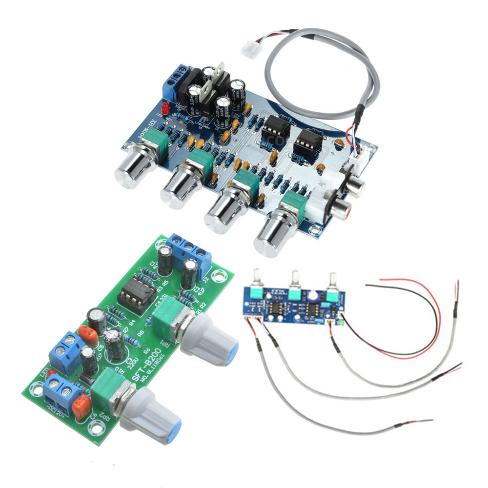 Diy Amplifier Board Module Dc 12 24v Ne5532 Stereo Subwoofer Preamp Lowpass Filter Frequency Circuit Opamp Chip Tone Control