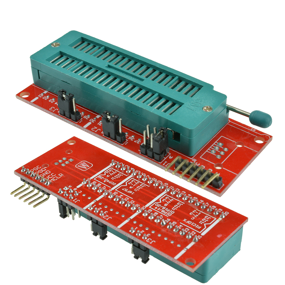 Pic Icd2 Kit 2 3 Pickit Programming Adapter Programmer 40pin Atmel Usb Circuit Zif Socket Usbasp Atmega8 Prog Test Seat Board