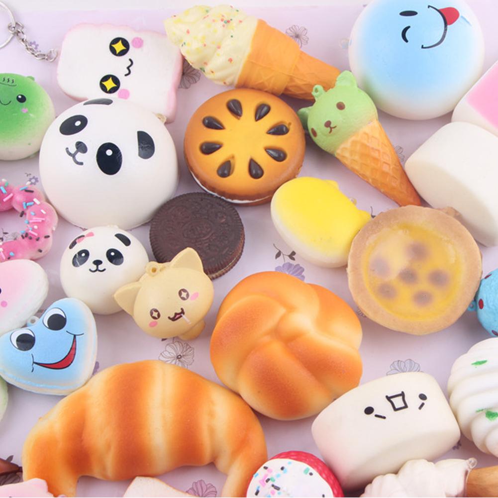 Squishy Mushy Squishies : 10pcs Random Squishy Charms Kawaii Soft Foods Squishies Cake Phone Straps Charm eBay