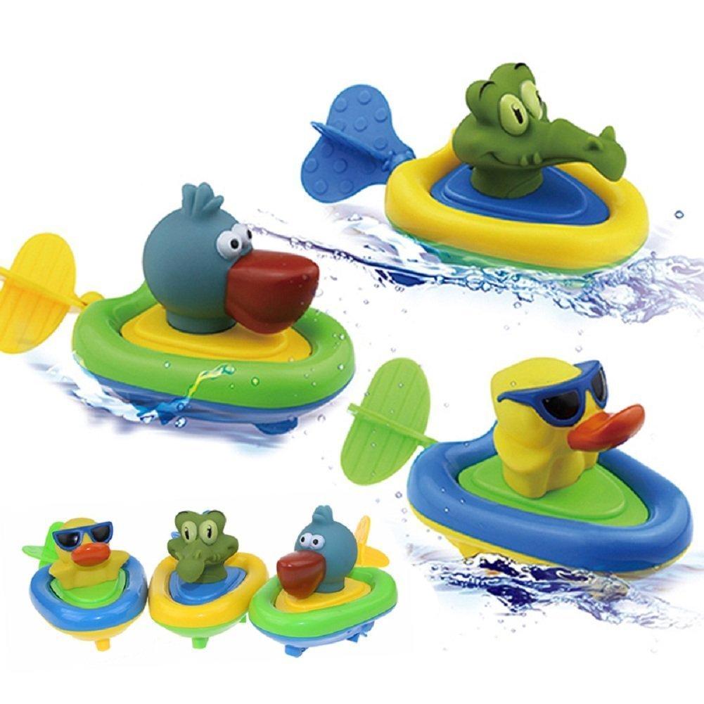 1Pc Cute Pull String Duck Crocodile Pelican Boat Swimming