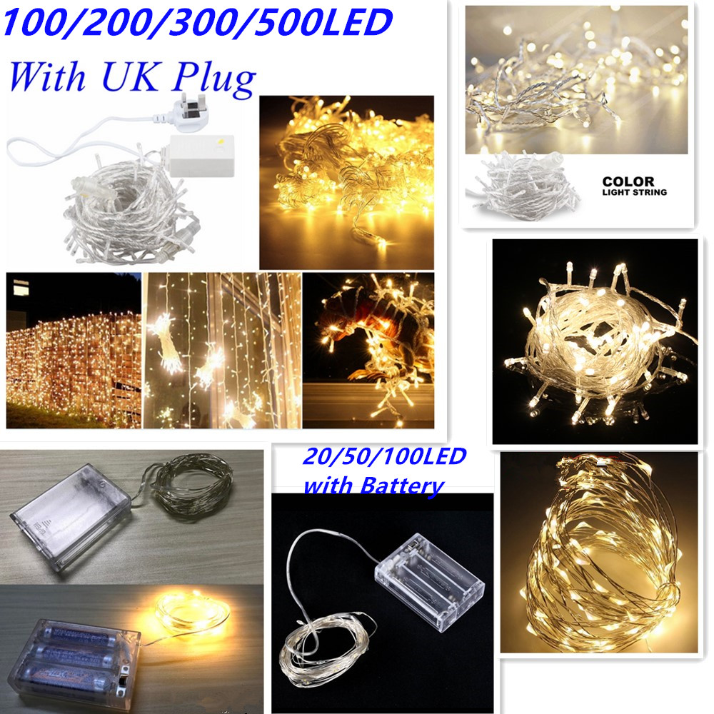 Electric String Lights Indoor : 100/200/500 LED Electric String Fairy Lights Indoor/Outdoor Xmas Christmas Party eBay