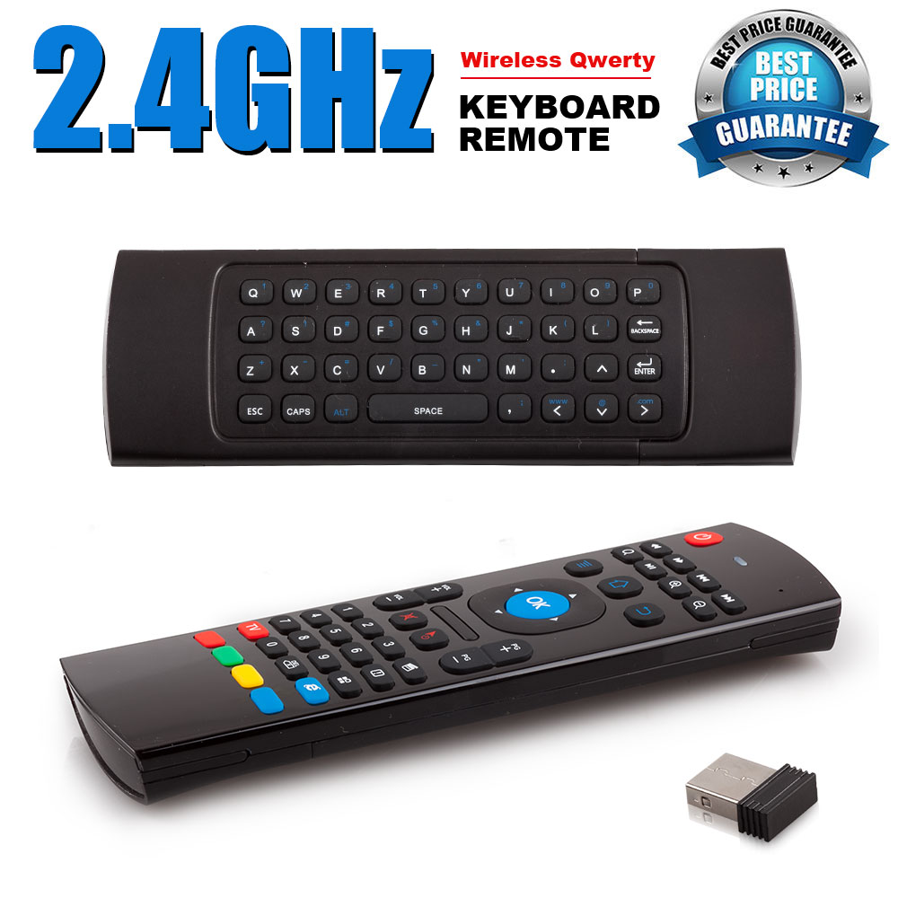 2 4ghz Fly Air Mouse Wireless Qwerty Keyboard Remote For