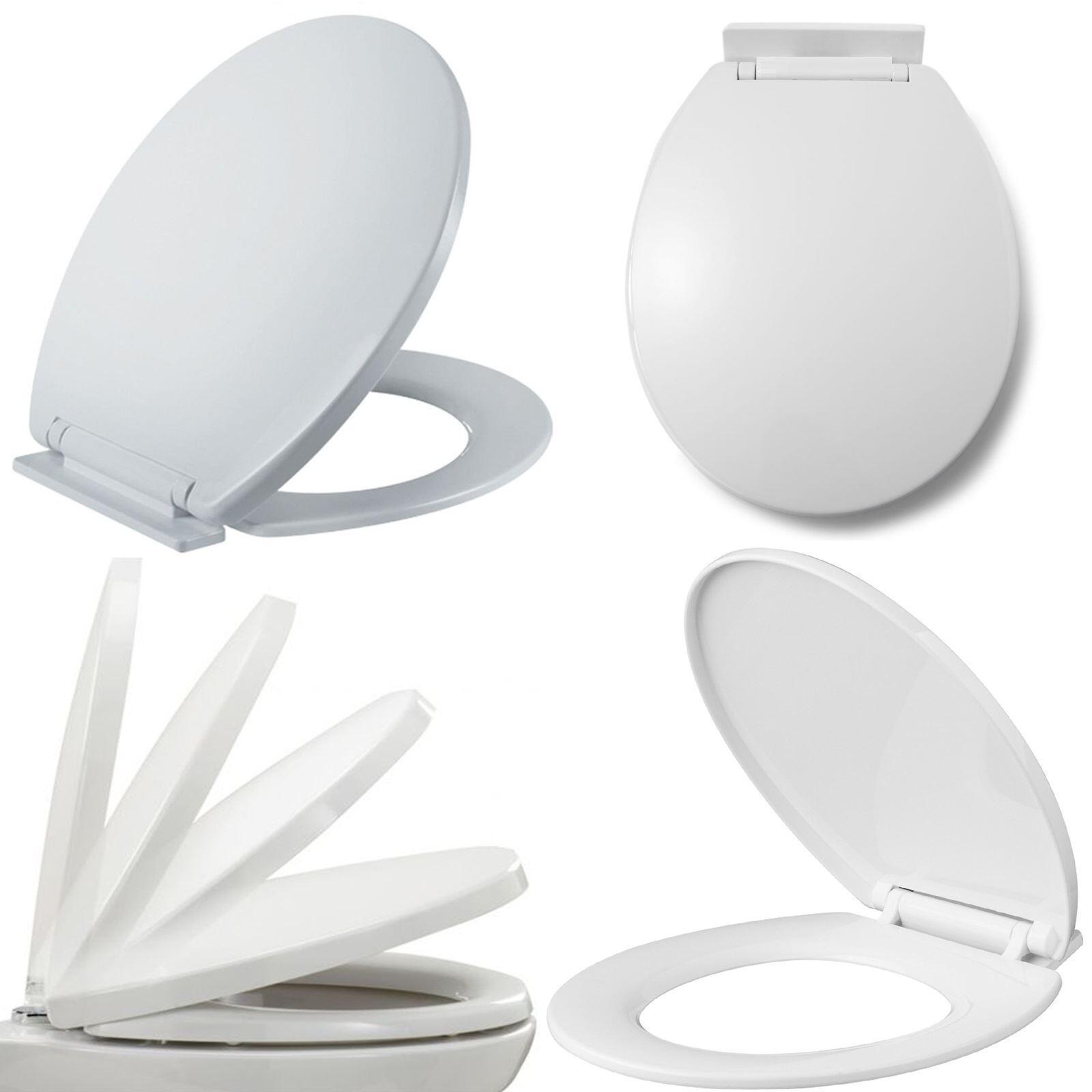 Brand New LUXURY BATHROOM SLOW SOFT CLOSE WHITE TOILET SEAT SEATS WC ...