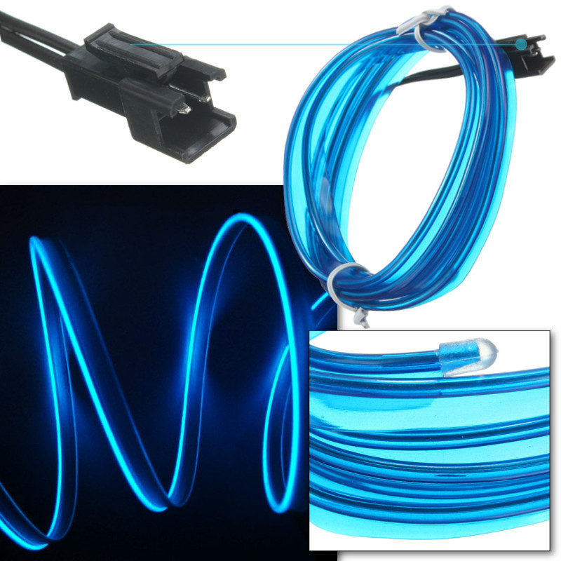 5M Battery Operated Luminescent Neon LED Lights Glow EL Wire Party ...