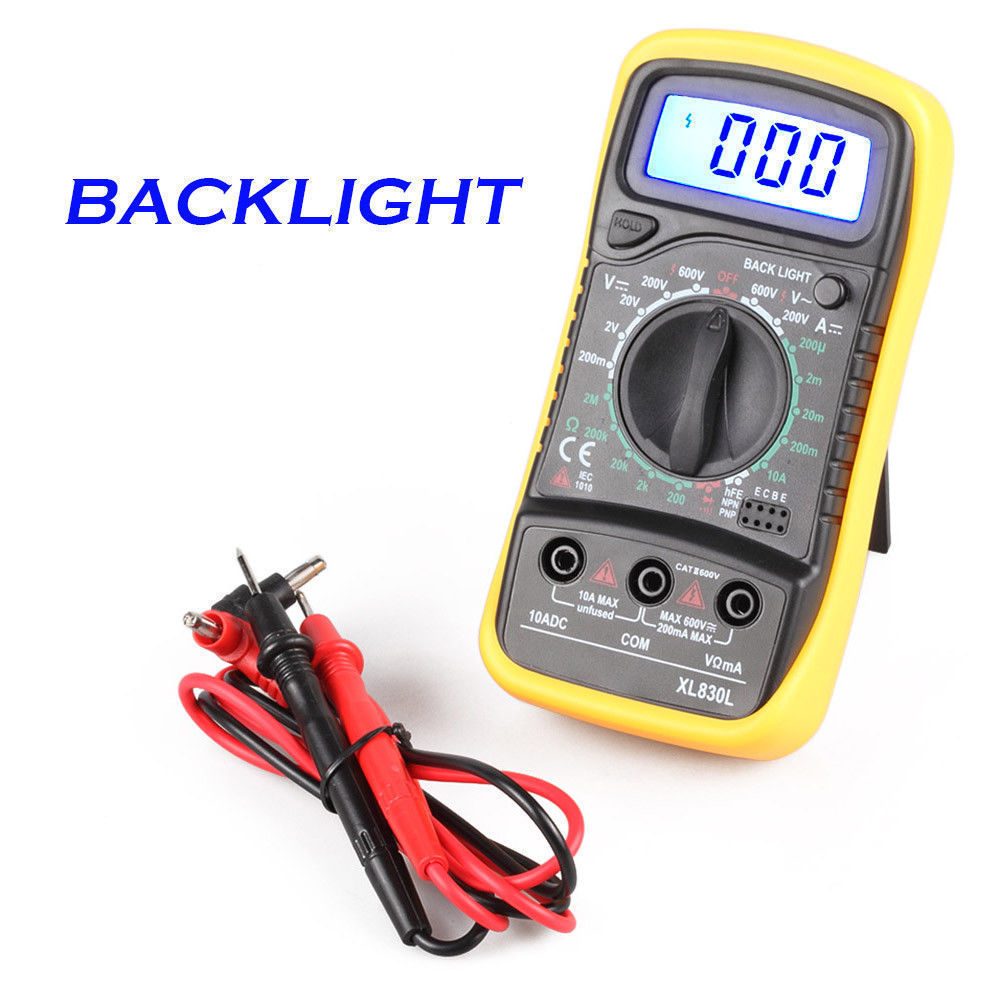 Lcd digital voltmeter ammeter ohmmeter multimeter volt ac dc tester detail fandeluxe Choice Image
