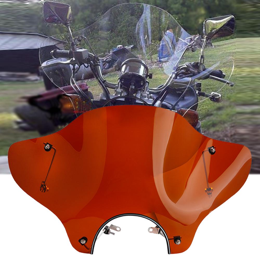 Universal Motorcycle Windshield Windscreen + Mounting Kit
