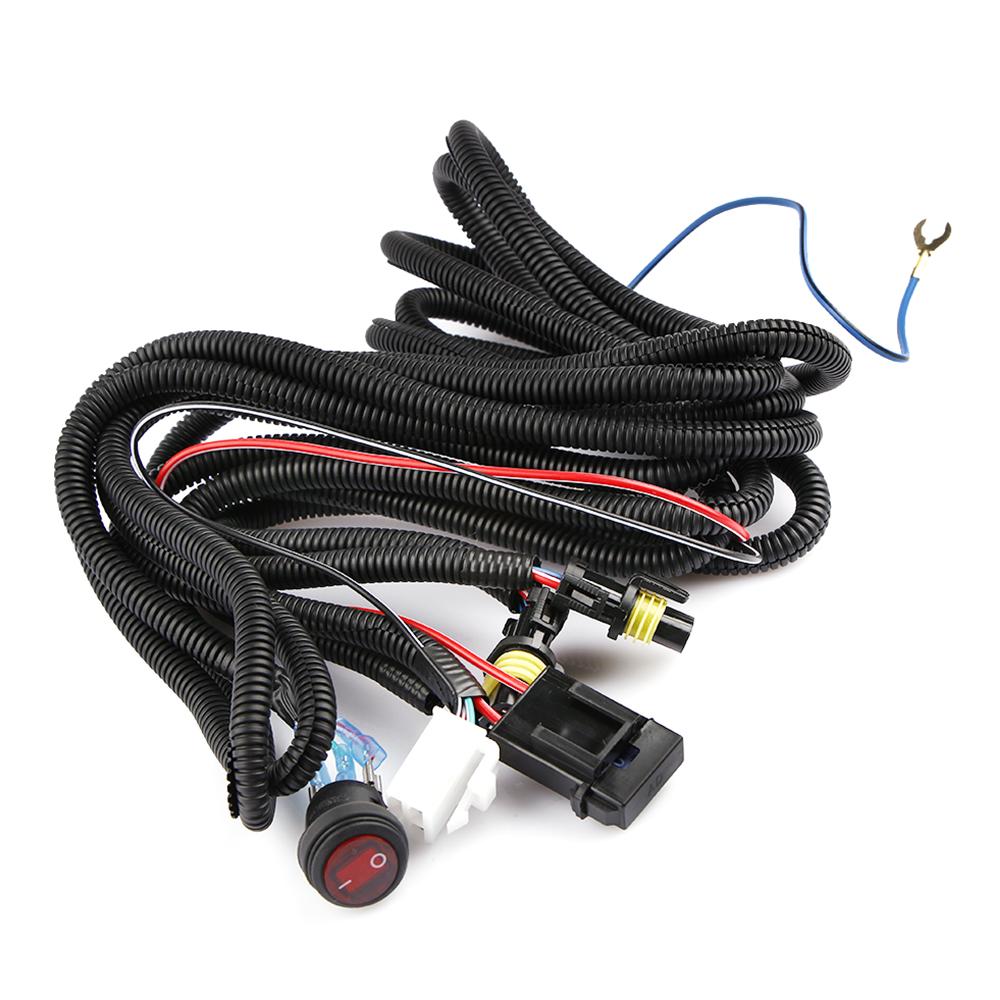 12v 40a led work fog light bar wiring harness relay kit on