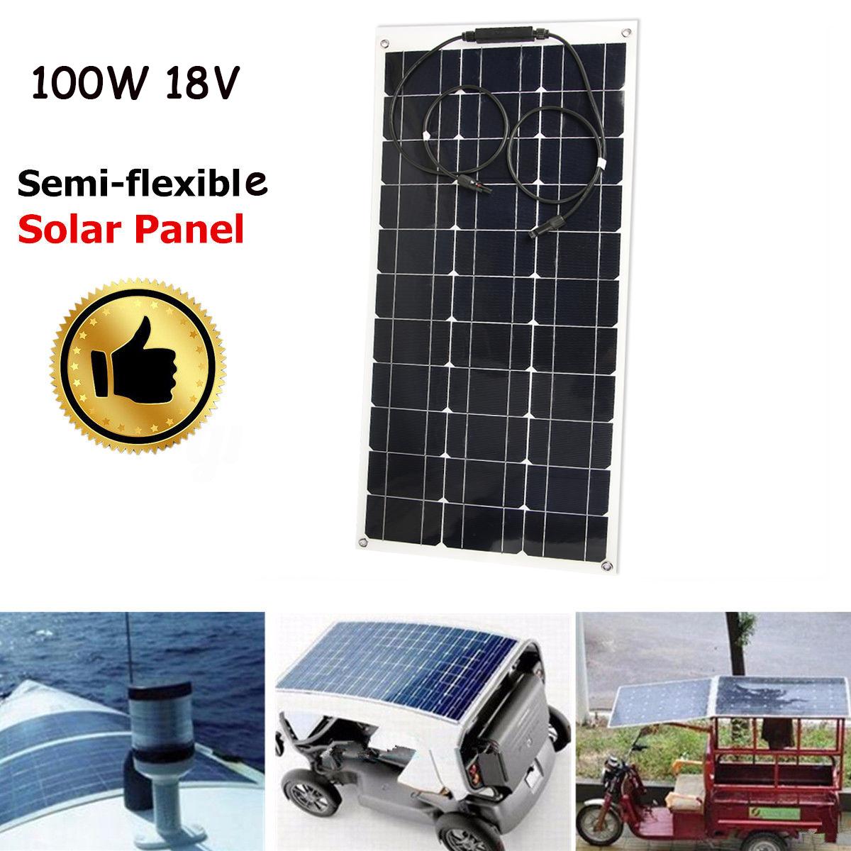 100w 18v panneau solaire mono semi flexible pour voiture bateau camion ebay. Black Bedroom Furniture Sets. Home Design Ideas