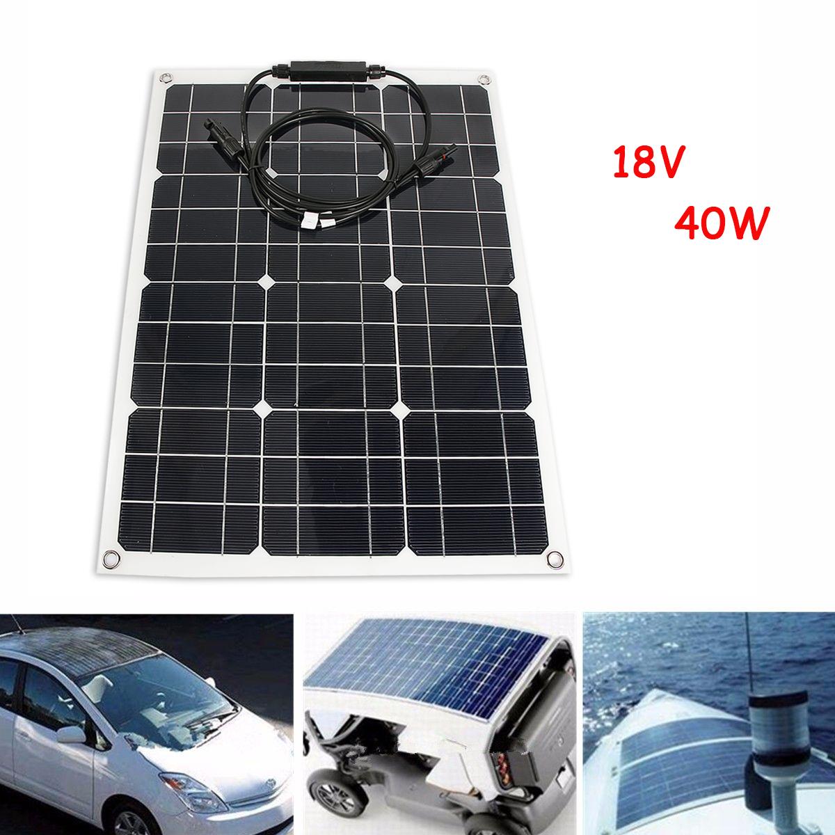 40w 18v panneau solaire mono semi flexible pour voiture bateau camion ebay. Black Bedroom Furniture Sets. Home Design Ideas