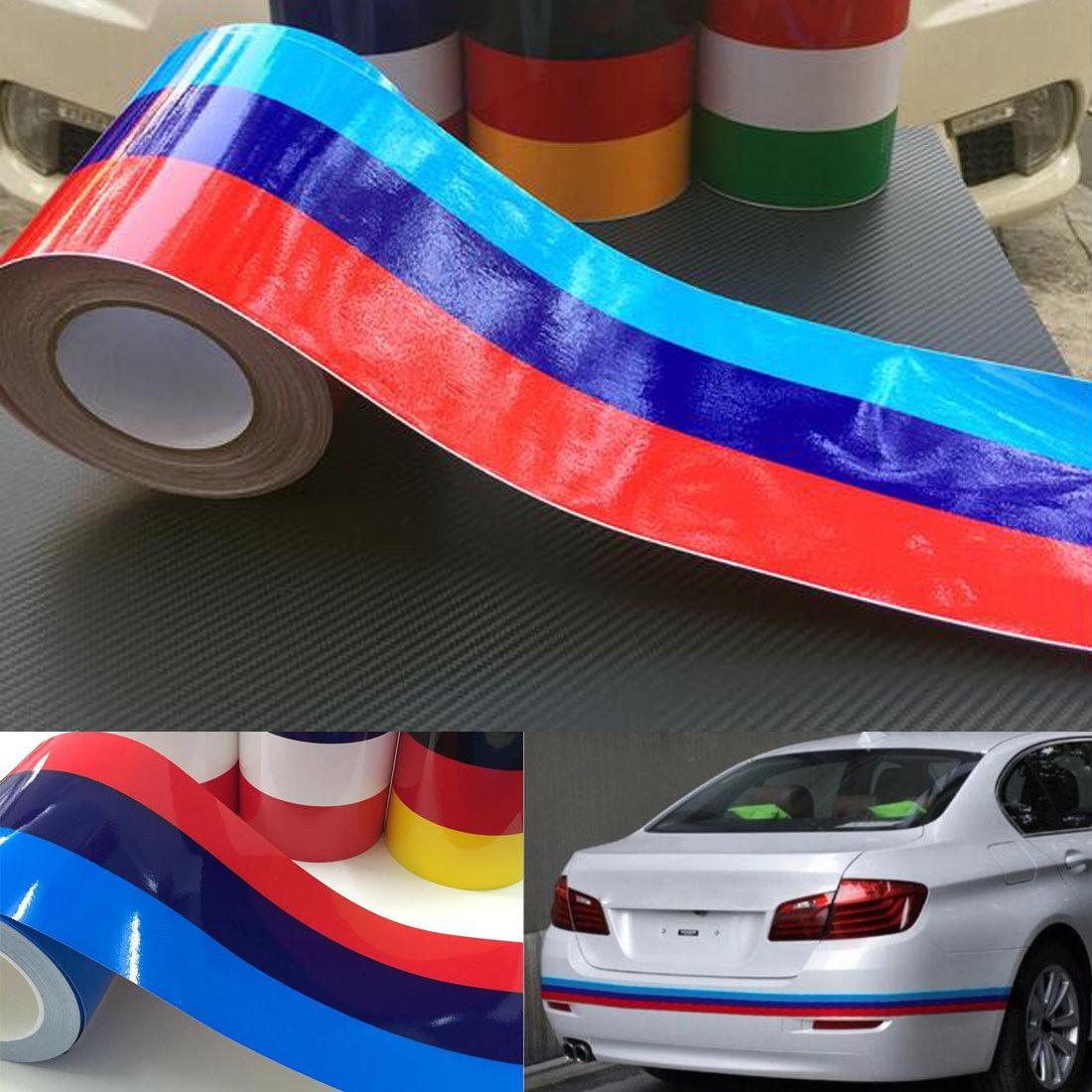 M-Colored Stripe Sticker Car Vinyl Decal For BMW M3 M4 M5