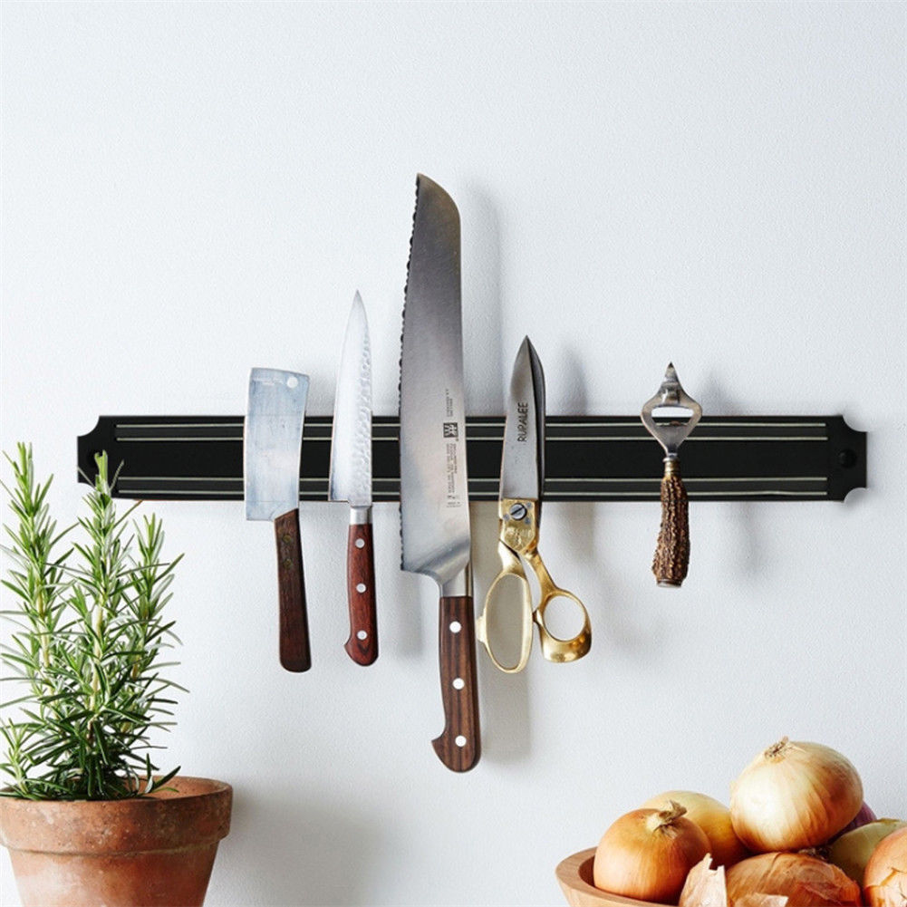 Details about Strong Magnetic Wall Mounted Kitchen Knife Magnet Bar Holder  Display Rack Strip