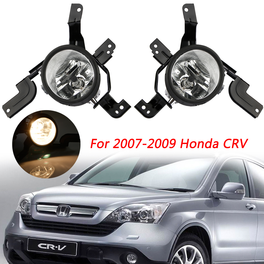 FOR 2007-09 HONDA CR-V New Replacement Headlights Assembly PAIR