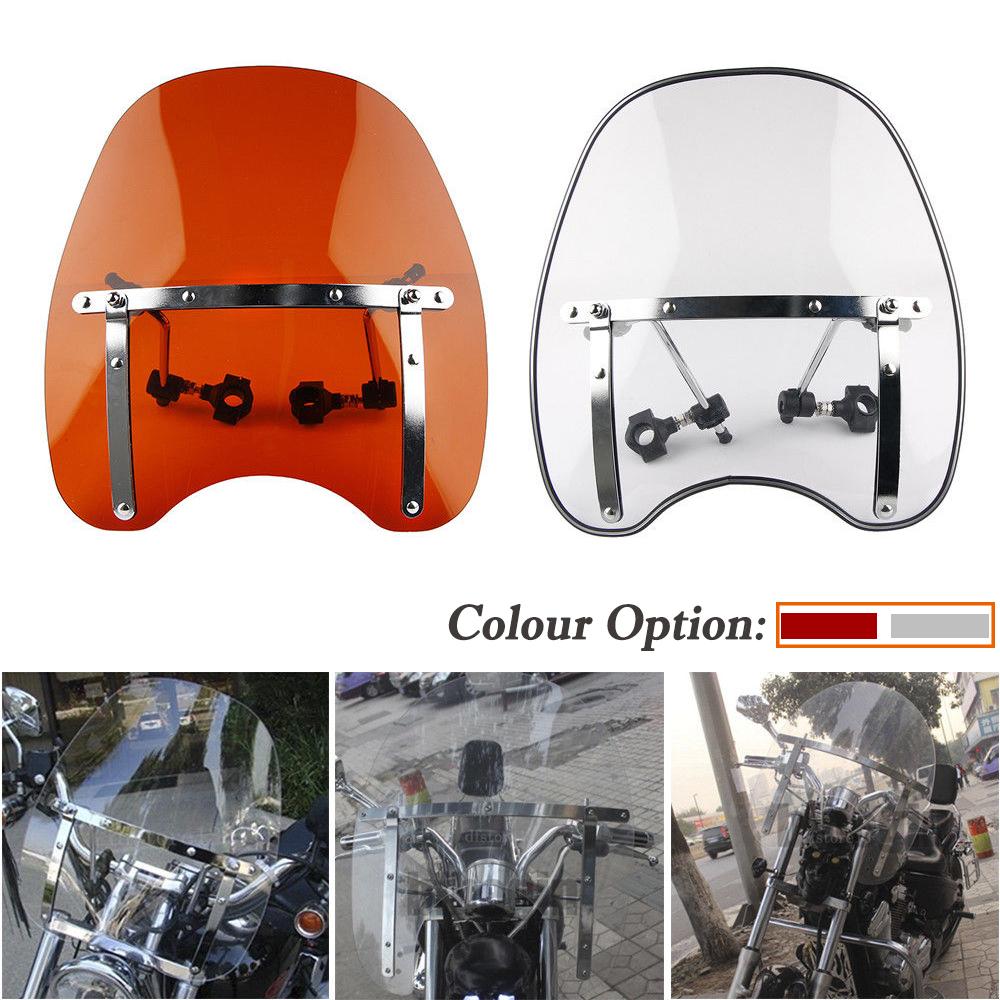 "7//8/"" /& 1/"" Motorcycle Cross Bones Windshield Windscreen Universal For Harley"