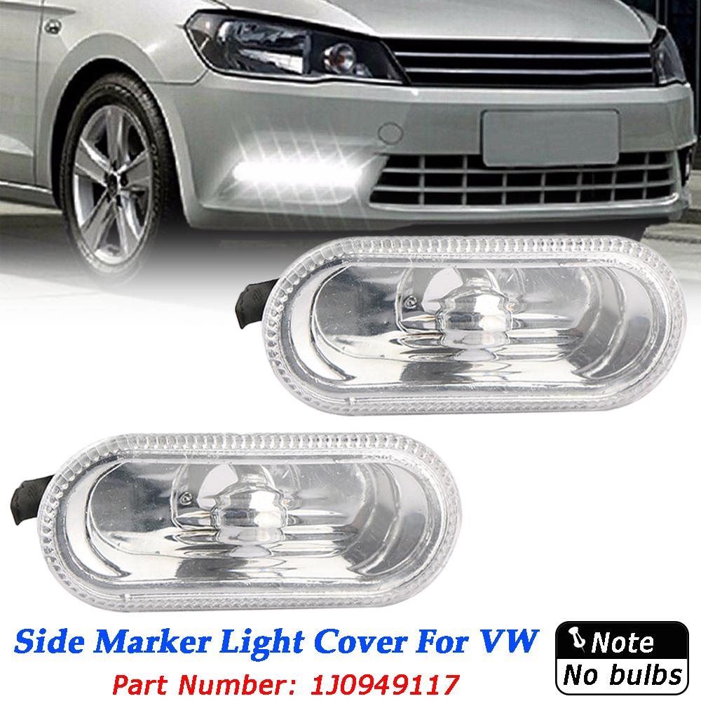 2 Pcs Free Side Marker Turn Light Indicator Beam Bulb Cover For MK4\B5\B5.5\R32