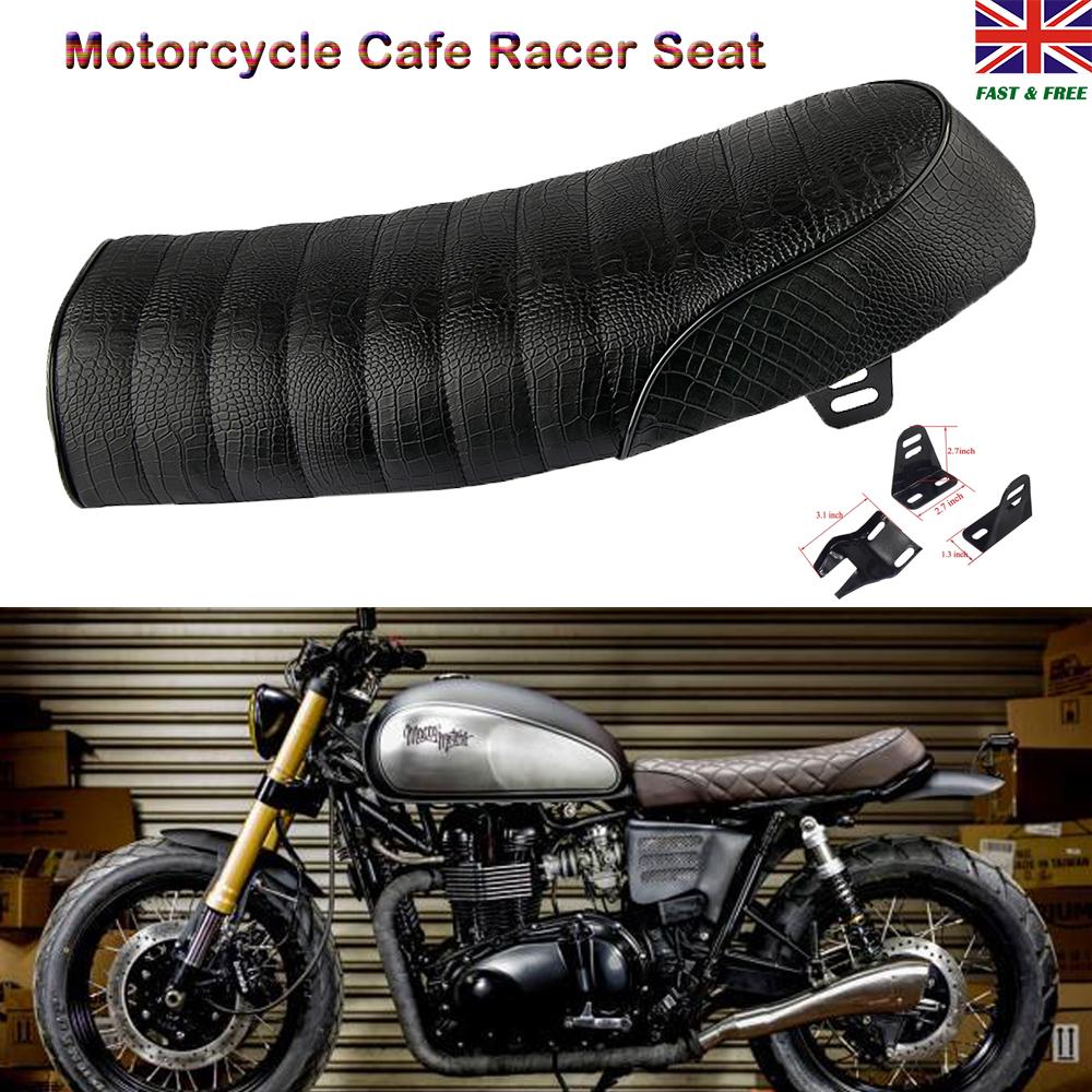 Details about Motorcycle Motorbike Cushion Cafe Racer Seat Cycle Flat  Saddle Retro For Honda