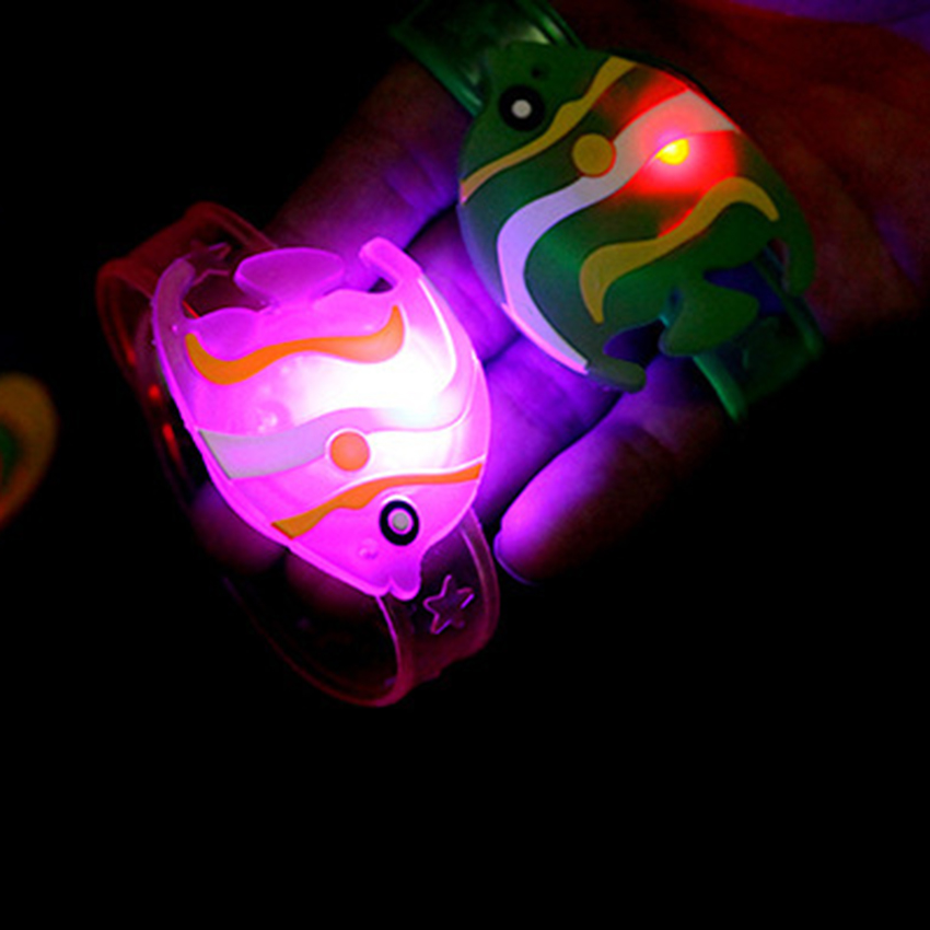 Novelty Cartoon Flash LED Light Glow Bracelet Kids