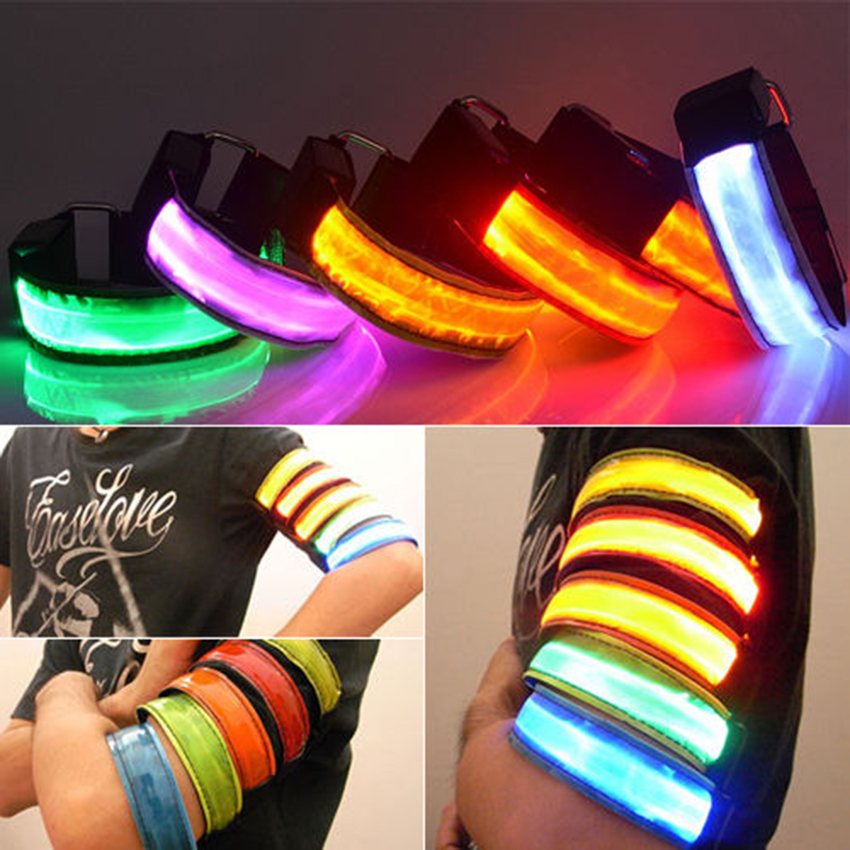 Creative Arm Glow Party Supplies Glow Bangle Reflective Led Light Arm Armband Strap Safety Belt For Night Running Cycling Men's Accessories Men's Arm Warmers
