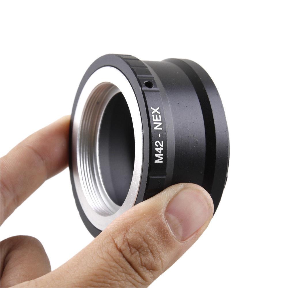 Adaptador adaptador del objetivo se adapta a m42 en Sony NEX e-cámara de puerto