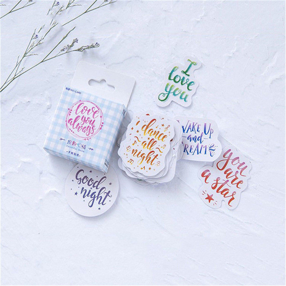 45pcs Colorful Mood Japanese Stationery Stickers for DIY Scrapbooking-Diary
