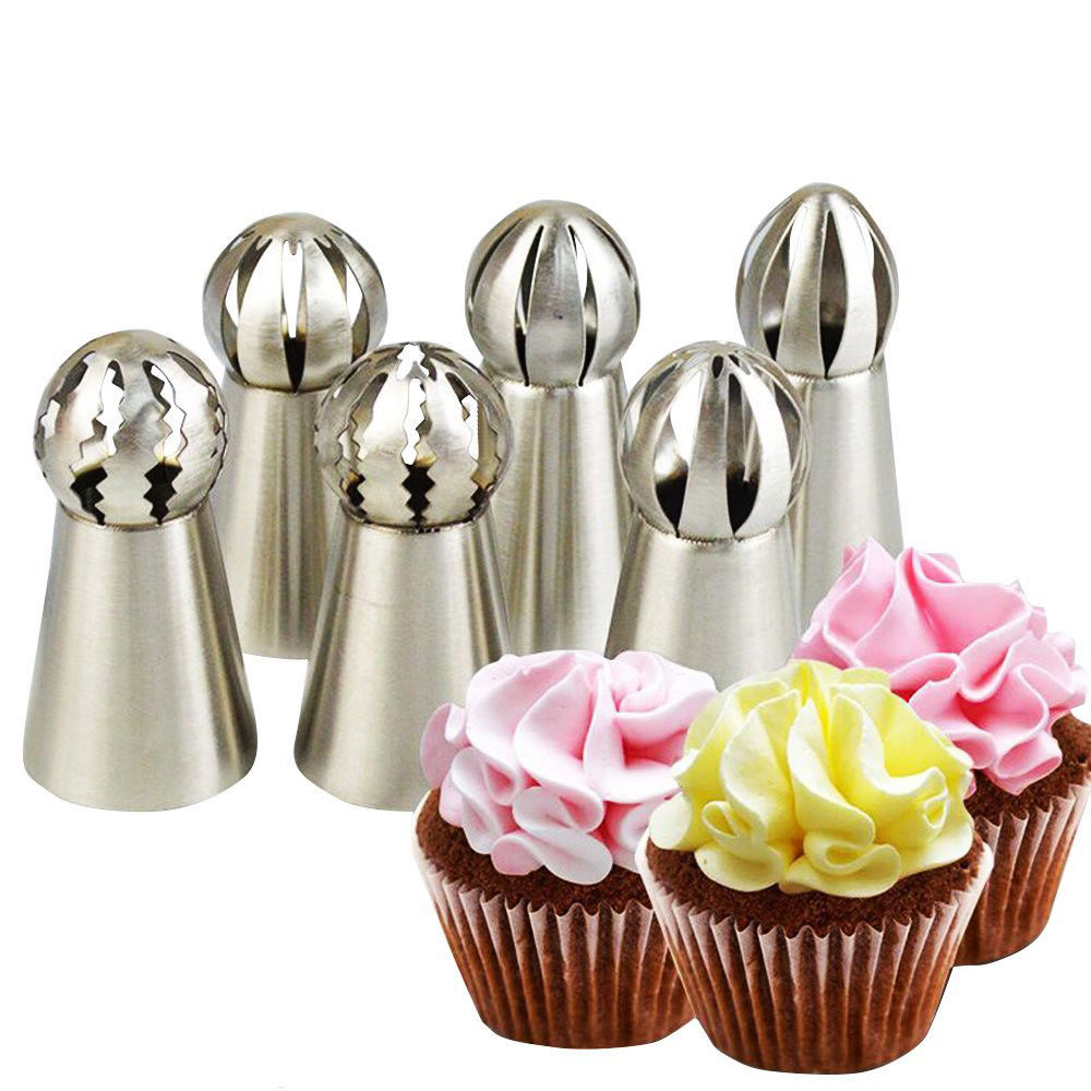 4Pcs Large Icing Piping Nozzles Russian Pastry Tips Baking Tool Cake Decor SYC