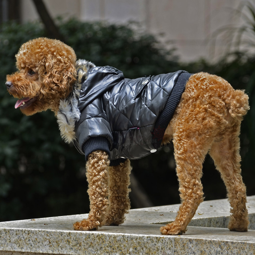 5 sizes Pet Small Dog Puppy Waterproof Coat Jacket Hoodie Thick Apparel Clothes 12