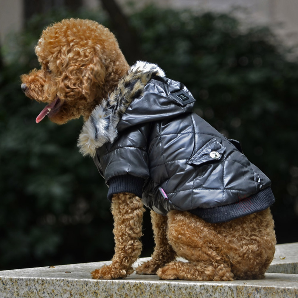 5 sizes Pet Small Dog Puppy Waterproof Coat Jacket Hoodie Thick Apparel Clothes 13