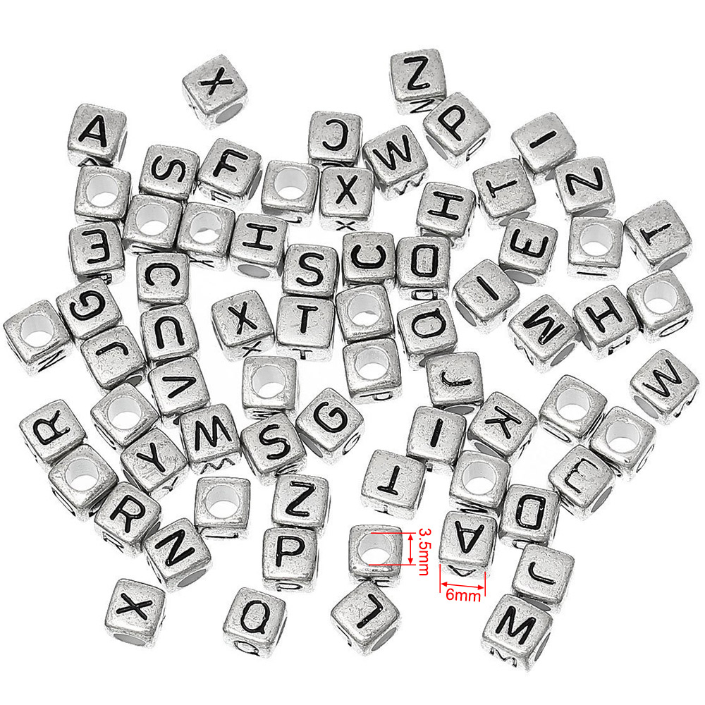 flat round 100 pcs alphabet letter beads color letters up to buyer selection