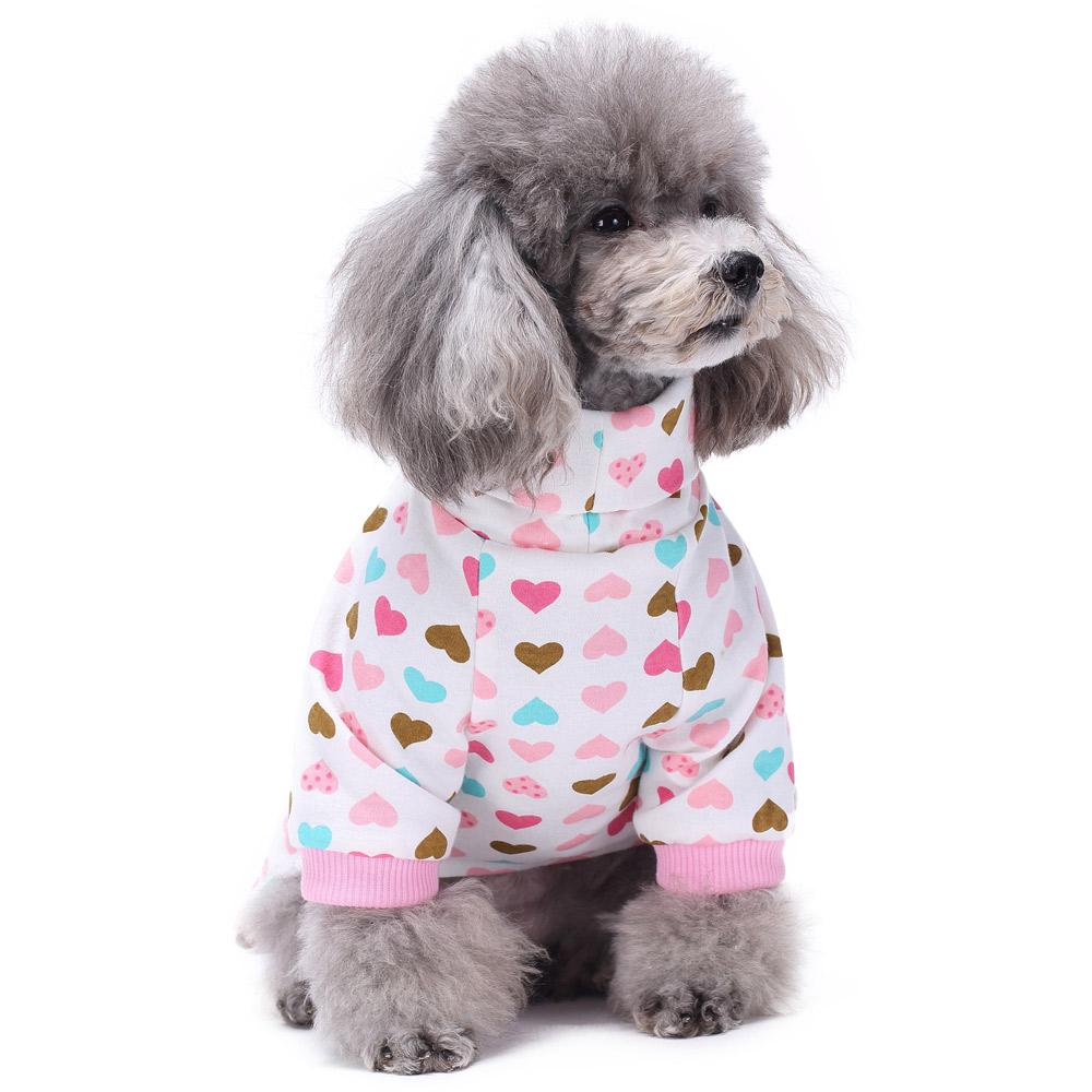 Dog Cat Puppy Cotton Warm Clothes Coat Pet Apparel Jumpsuit Pajamas  Hoodies NEW 14