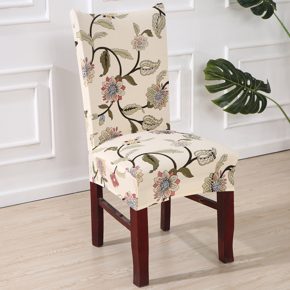Dining Room Slip Covers: Printed Covers Protectors High Back Stetch Slipcovers