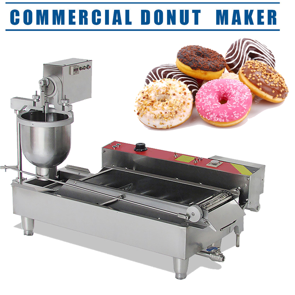 commercial electric automatic doughnut donut machine donut maker 6kw dhl ebay. Black Bedroom Furniture Sets. Home Design Ideas