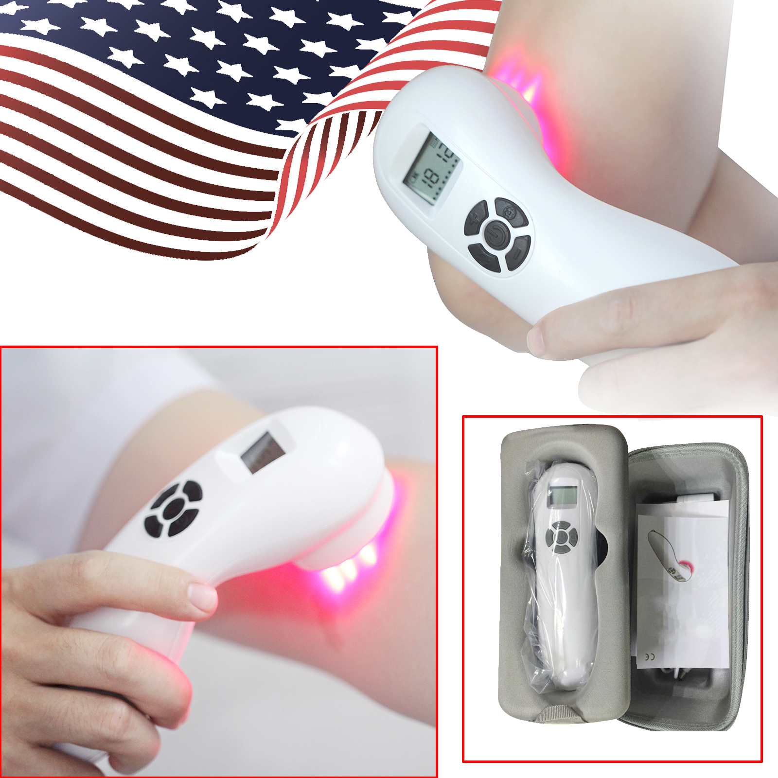 Cold Laser Therapy Kit Deep Pain Relief Therapy Red