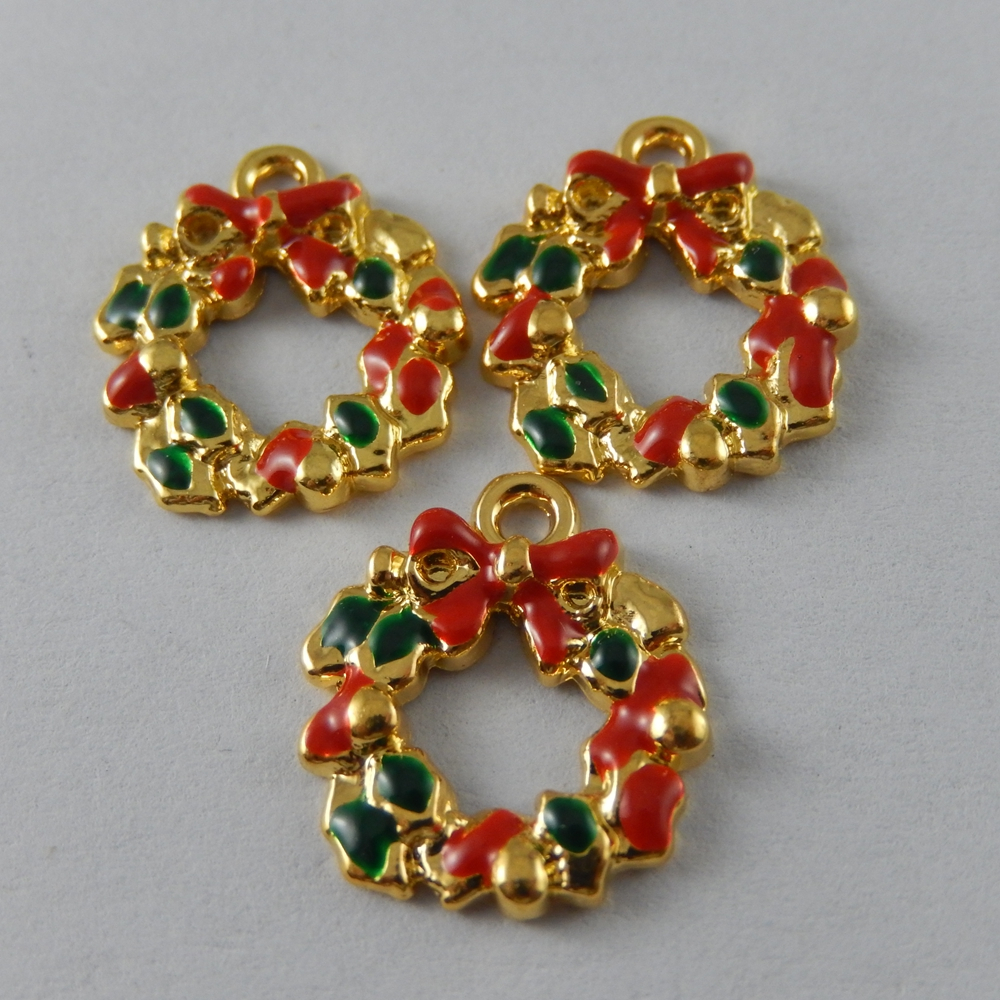 20PCS//Pack Multi-Colors Happy Shaped Enamel Plated Charms Pendant DIY Findings
