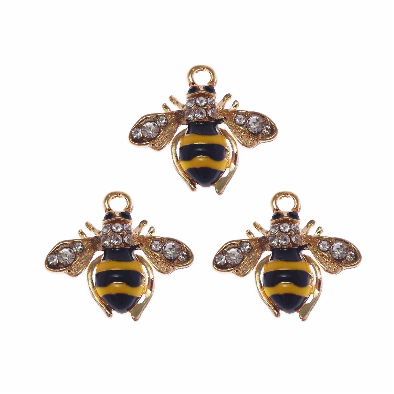 50//100pcs Retro style bee Charm Pendant DIY Jewellery crafts 20x16mm