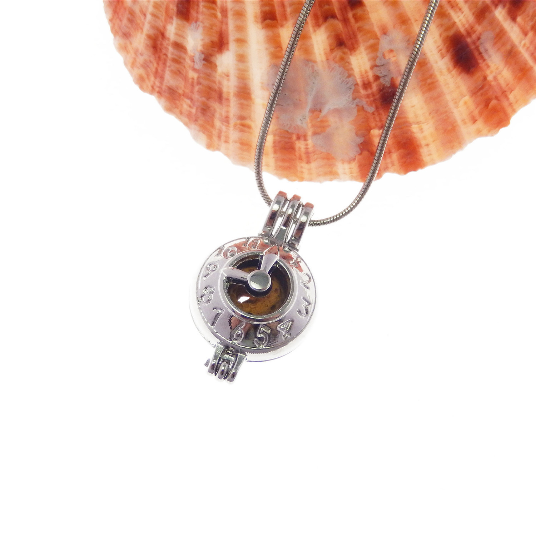 1Stk Damen Halskette Silber Messing Ausgehöhlt Hund Medaillons Anhänger Handwerk