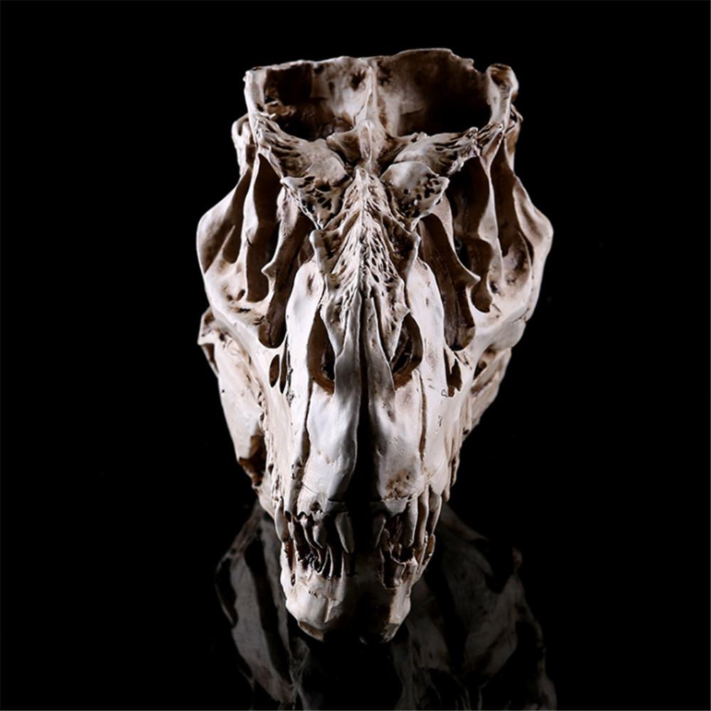 Horrible Tyrannosaurus Rex Dinosaur Skull Look Resin Crafts Decor Home Ornaments