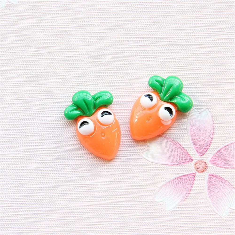 39048 Fashion Style Resin Orange Cute Bulb Shaped Pendant Charm 25*14*14mm 18PCS