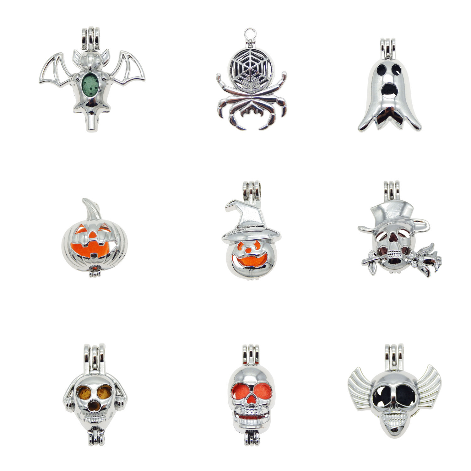 40pcs Silver Tone Alloy Dumbbell Charms Pendant Crafts Jewelry Making 51247